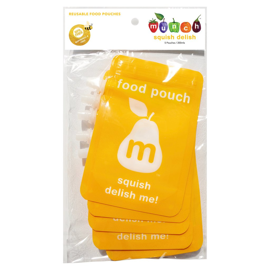 Squish Delish Series 4 : Food Pouch ? Squish Delish ? Pack of 5 KidzBizOnline